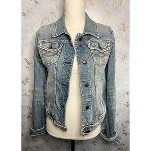 Abercrombie & Fitch Vintage Distressed Jean Jacket